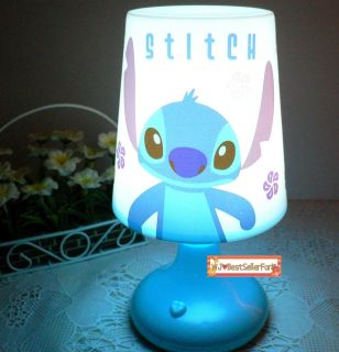 Two Functions♥disney Stitch Scrump Twilight Night Light Kids Sleep LED Bed Lamp