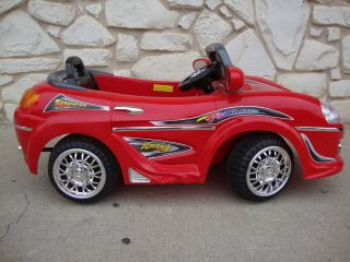 Kids Sports Car Power Wheels Ride on Toy 6V Porsche Red