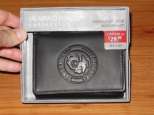 United States Marine Corps USMC Leather Trifold Wallet New