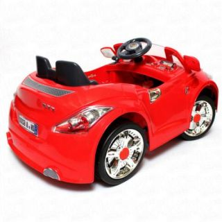 Ride on Car 12V Audi Style Kids Power Wheels w  Remote Control Toy Red
