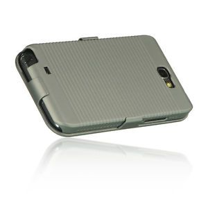 Grey Heavy Duty Holster Bell Clip Hard Case Samsung Galaxy Note II 2 N7100