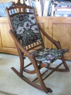 1800s Antique Rocking Chair Civil War Era Rocker Restored Old Early Vintage MT1