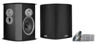 New Polk Audio FXI A4 Home Theater Rear Side Speakers FXIA4 Surround Pair Black