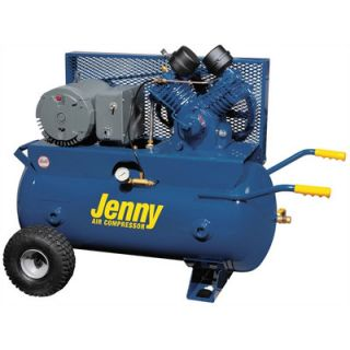 Jenny Products 30 Gallon 5 HP Electric Motor 230 Volt Two Stage Wheeled Portable Air Compressor