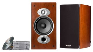 New Polk Audio RTI A3 Home Theater Bookshelf Speakers RTIA3 Speaker Pair Cherry