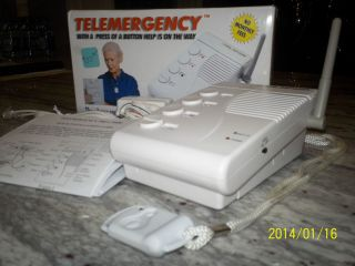 Brand New Telemergency Medical Emergency Phone Alert Device w Call Help Pendant