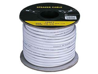100ft Feet Foot 16AWG 4 Conductor Surround Sound Audio White Speaker Wire Cable