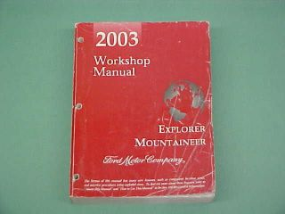 2003 Original Ford Explorer Mountaineer Service Shop Repair Manual 03
