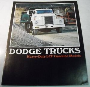 Dodge 1973 Heavy Duty LCF Gas Trucks Sales Brochure