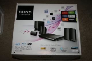 Sony Blu Ray Disc DVD Home Theatre BDV E385 Brand New Factory SEALED Box