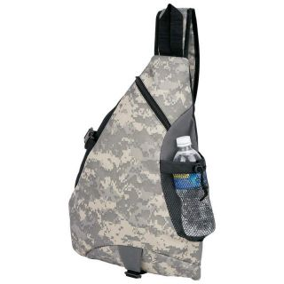 Digital Camo Camouflage Sling Backpack Book Bag Army Camping Hunting Day Pack