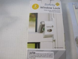 Safety 1st First HS161 ProGrade Home Child Safety Window Lock 2 Locks New