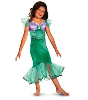 Disney Princess The Little Mermaid Ariel Sparkle Classic Girls Costume