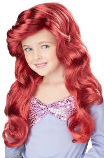 Brand New Little Mermaid Ariel Princess Child Costume Wig Red