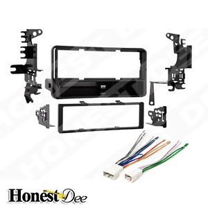 Toyota Car Stereo Single ISO DIN w Pocket Radio Install Dash Kit Combo 99 8202