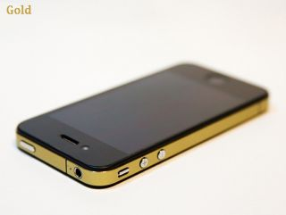 iPhone 4 Bumper Edge Wrap Vinyl Skin Shield Cover Sticker Unique Design Gold
