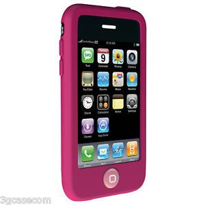 Pink Soft Silicone Gel iPhone Case Cover 3G 3GS USA