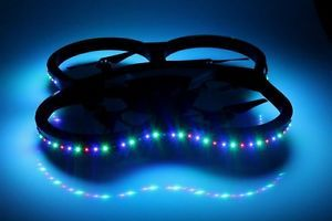 Multi Color LED Parrot iPhone AR Drone 2 0 First Gen UFO Night Light SMD 3M Tape