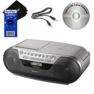Sony CFDS05 CD Radio Cassette Recorder Boombox Aux Cable CD Lens Cleaner 027242780262