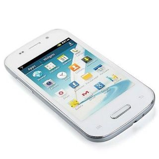 "3 5"" Android Smart Cell Phone Dual Sim Unlocked at T T Mobile Playstore White"