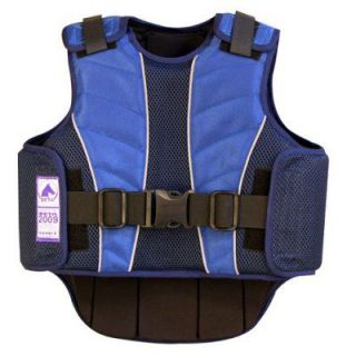 Supra Flex Body Protective Equestrian Horse Riding Vest BSI Certified Black Blue