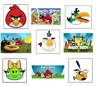 Angry Birds Party Supplies Stickers Favors Gifts Birthday Decorations Label