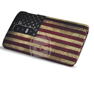 USA American Flag Retro Vintage Design Case Skin Cover for LG G2 D801 D802