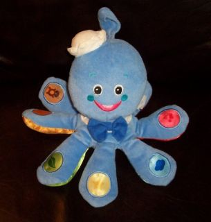 Infant Baby Einstein Color Octopus Plush Learning Toy 3 Languages