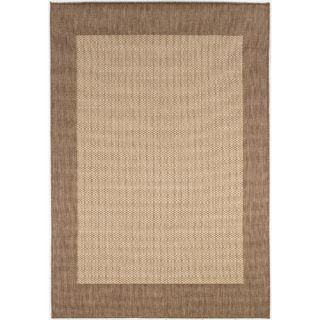 Couristan Recife Checkered Field Natural Cocoa Rug