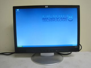 "HP W17E 17"" Flat Panel Widescreen LCD Monitor Black Silver"