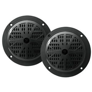 "New 2 4"" Marine Boat Speakers Pair Ski Water Black Flush Mount Audio Four Inch"