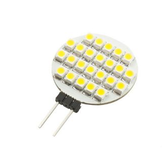 G4 24 SMD LED RV Marine Cabinet Lamp Light Car Bulb DC 12V 3000 3300K Dr
