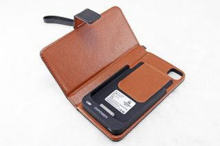 Brand iPhone 4 4S 2000mAh Mobile Power Backup Battery Case Charger Leather