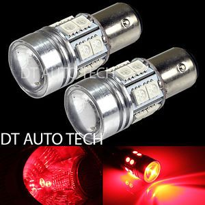 1156 CREE High Power LED 12 SMD Red Turn Signal LED Light Bulbs Bulb