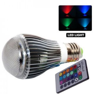 GearXS 9W E27 Color LED RGB Magic Light Bulb with Wireless Remote