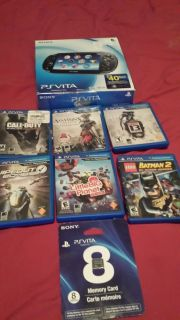 PS Vita 3G WiFi and 8GB Card 6 Games with Box