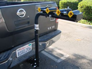 "Heavy Duty 4 Bike Swing Down 2"" Hitch Mount Carrier Bicycle Rack Car Truck SUV"