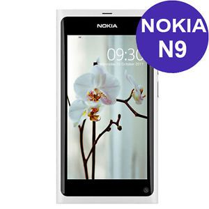 Nokia N9 White 16GB 3G 8MP Camera WiFi GPS Unlocked GSM Cell Phone