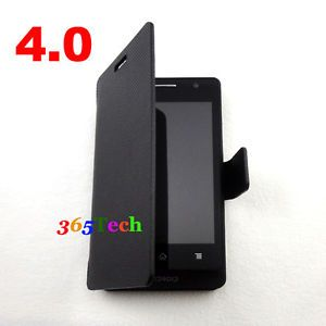 Screen 4 0 Android Cell Smart Phone Unlocked WiFi Dual Sim GSM at T Mobile Black
