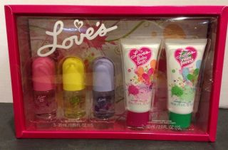 Loves Baby Soft 5 Piece Gift Set Cologne Mist Lemon Jasmine Body Lotions