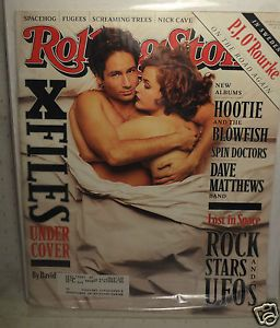 Rolling Stone Magazine Issue 734 x Files David Duchovny Gillian Anderson EC