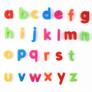 26pcs Multi Color Small Letters Alphabet Magnetic Fridge Sticker for Children