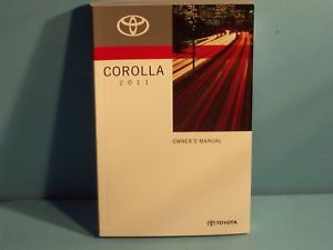 11 2011 Toyota Corolla Owners Manual