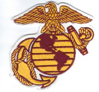 US Marines Corp Logo 6 inch Embroidered Patch
