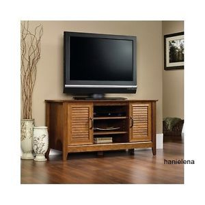 Wood TV Cabinet Stand Media Console Entertainment Center Home Theater Storage