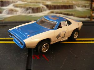 Vintage Aurora AFX Richard Petty Dodge Charger Stock Car 43 Slot Car