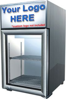 Reach in Glass Door Display Cooler Beverage Fridge Refrigerator Merchandiser