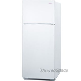 "Slim 24"" Wide White Refrigerator w Top Freezer Compact Food Beverage Fridge 761101001999"