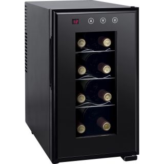 8 Bottle Compact Mini Wine Chiller Refrigerator Compact Thermo Electric Fridge