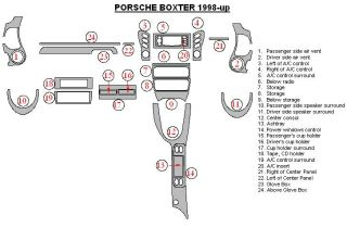 Porsche Boxster 986 Interior Aluminum Dash Trim Kit Set 1997 1998 1999 2000 2001